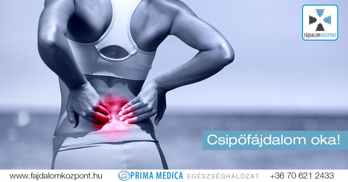 a csípőízület éles fájdalma a kezelést okozza)