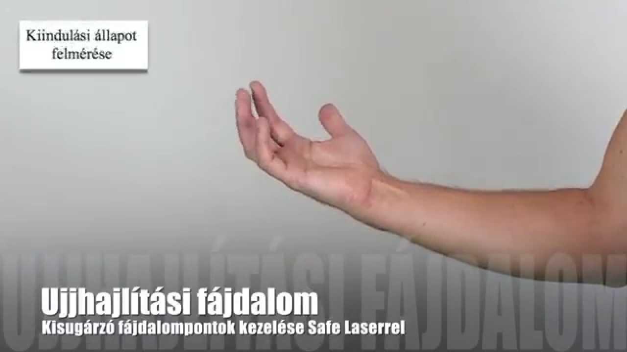 ízületi fájdalom az ujj hajlításakor