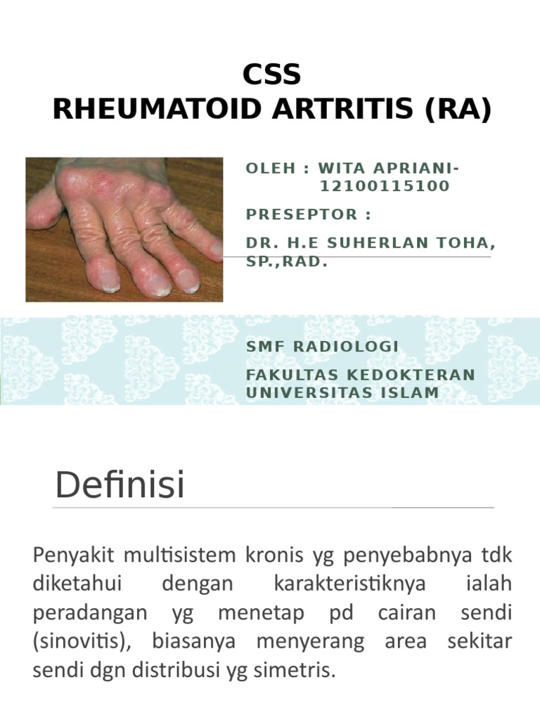 akut rheumatoid arthritis esettanulmánya)