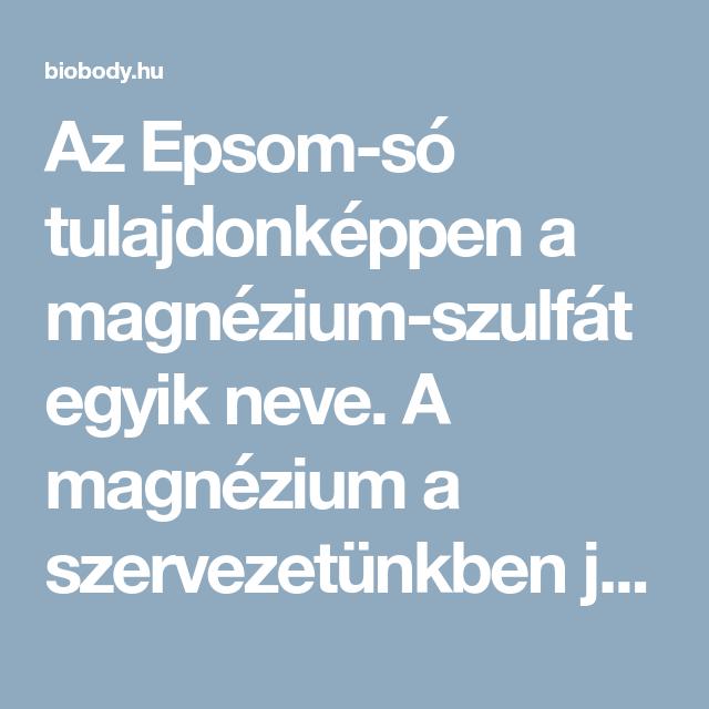 magnézium-szulfát fájdalom ízületek)