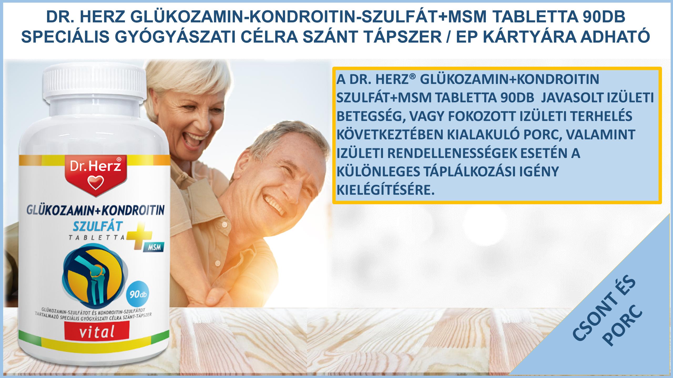 glükozamin készítmény